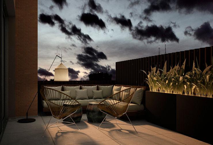 DyD Interiorismo - Chelo Alcañíz Classic style balcony, veranda & terrace Engineered Wood Brown