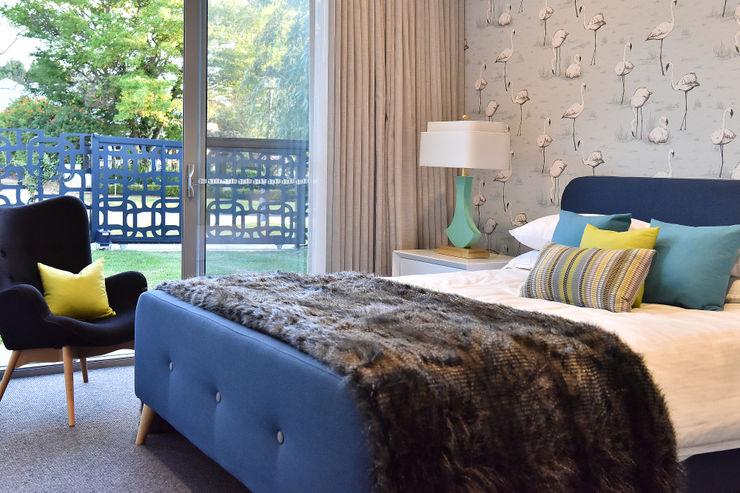 Flamingo Guest Bedroom Decor Design Intervention Modern Bedroom