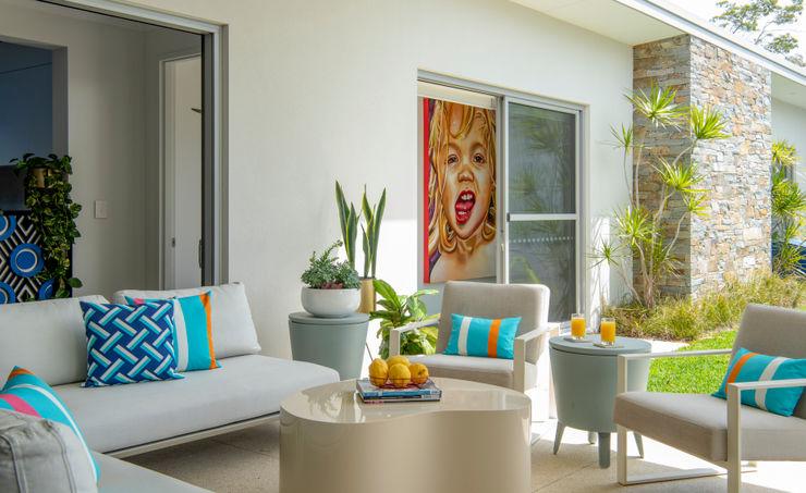 Modern Alfresco Seating Area Design Intervention Modern Terrace