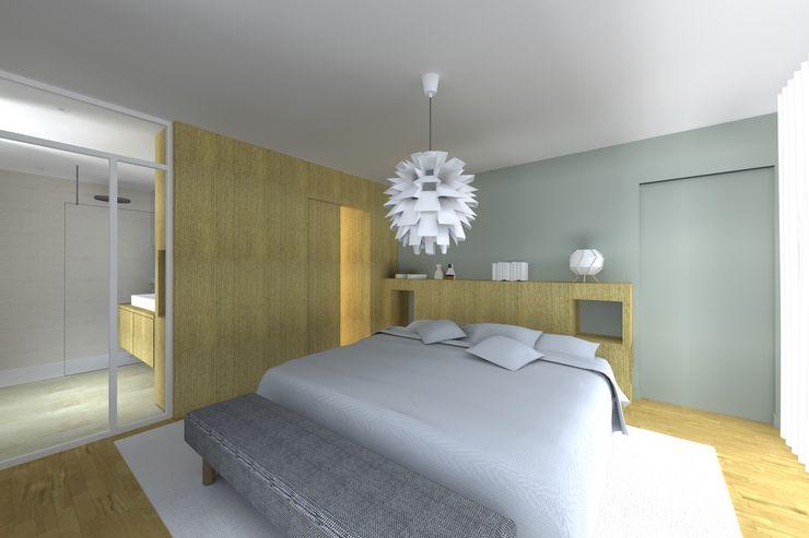 SUITE PARENTALE Lionel CERTIER - Architecture d'intérieur Chambre moderne