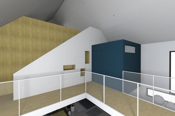"""VUE SUR BOITE """"SALLE DE BAINS ENFANTS"""" Lionel CERTIER - Architecture d'intérieur Couloir, entrée, escaliers modernes"""