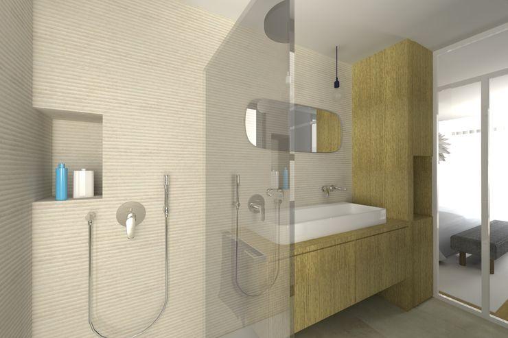 VUE SUR SALLE DE BAINS PARENTALE Lionel CERTIER - Architecture d'intérieur Salle de bain moderne