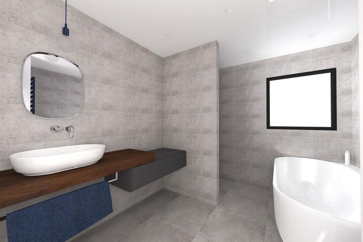 VUE SUR SALLE DE BAINS ARRIERE Lionel CERTIER - Architecture d'intérieur Salle de bain moderne