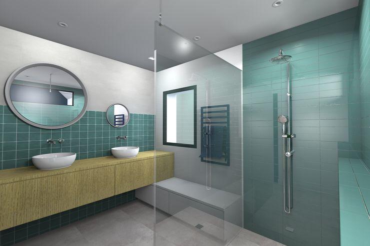 VUE SUR SALLE DE BAINS ENFANTS Lionel CERTIER - Architecture d'intérieur Salle de bain moderne