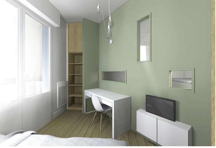 VUE SUR CHAMBRE 1 Lionel CERTIER - Architecture d'intérieur Chambre moderne