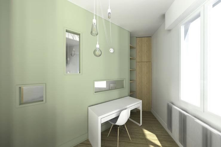 VUE SUR CHAMBRE 2 Lionel CERTIER - Architecture d'intérieur Chambre moderne