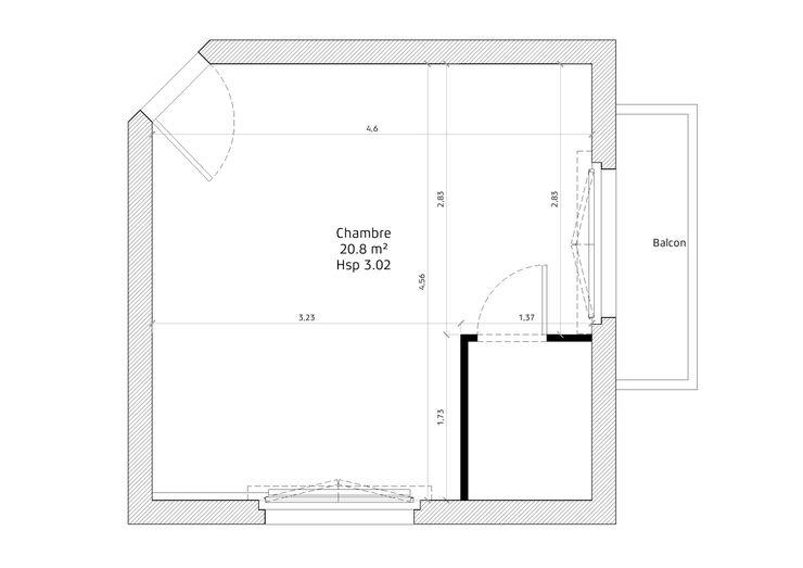 PLAN EXISTANT Lionel CERTIER - Architecture d'intérieur