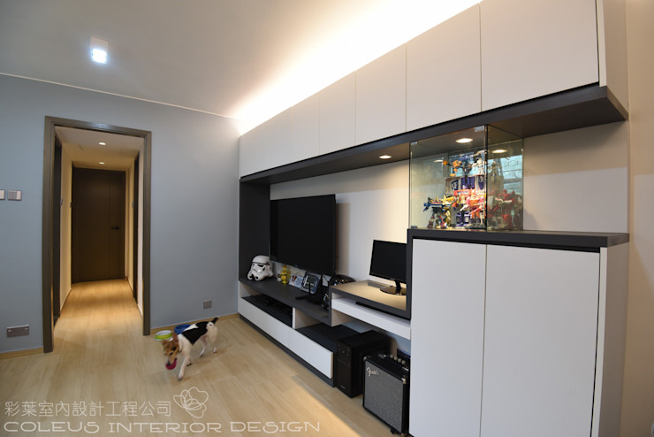 彩葉室內設計工程公司 Modern dining room Plywood White