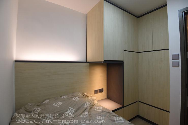 彩葉室內設計工程公司 Small bedroom Plywood Wood effect