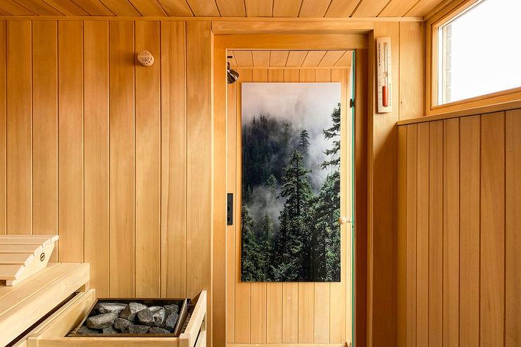 Individuelles Saunahaus auf Dachterrasse| KOERNER Saunamanufaktur KOERNER SAUNABAU GMBH Sauna