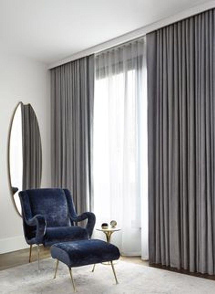 Persianas en Guadalajara Gdl 现代客厅設計點子、靈感 & 圖片 Grey