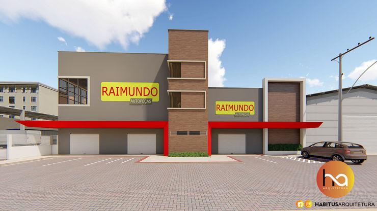 02 Habitus Arquitetura Edifícios comerciais modernos Concreto Cinza