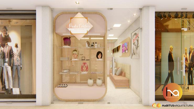 01 Habitus Arquitetura Espaços comerciais modernos MDF Rosa