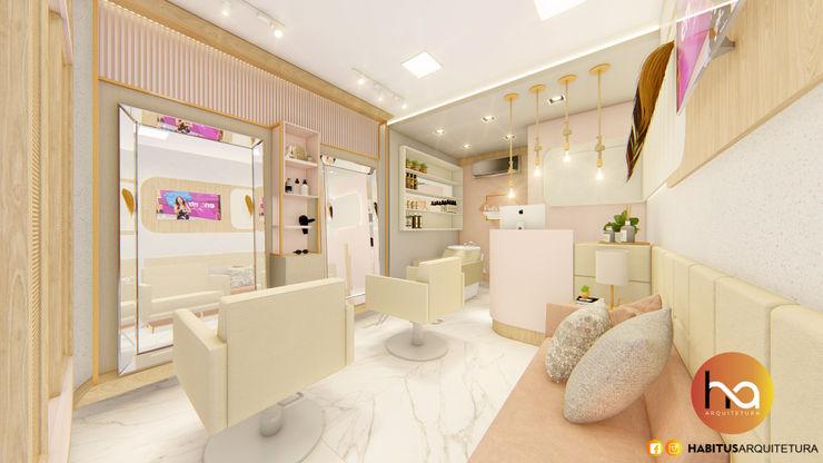 02 Habitus Arquitetura Espaços comerciais modernos MDF Rosa
