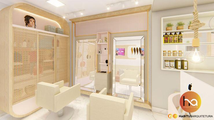 04 Habitus Arquitetura Espaços comerciais modernos MDF Rosa