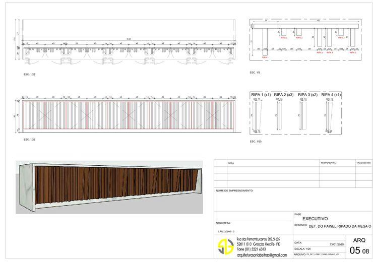 Detalhes Mesa (frios e quente) Restaurante Arquitetura Sônia Beltrão & associados