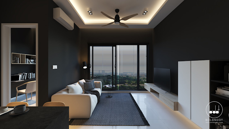 SKYLUXE CONDOMINIUM, BUKIT JALIL BOLDNDOT SDN BHD Living room Black