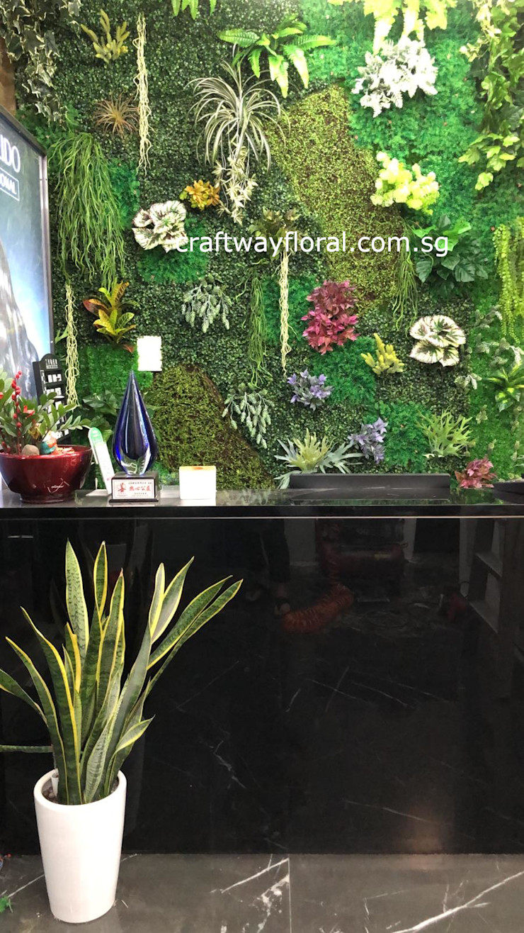 Artificial flowers and plants supplier Craftway Floral & Gifts Shopping Centres Plastic Green