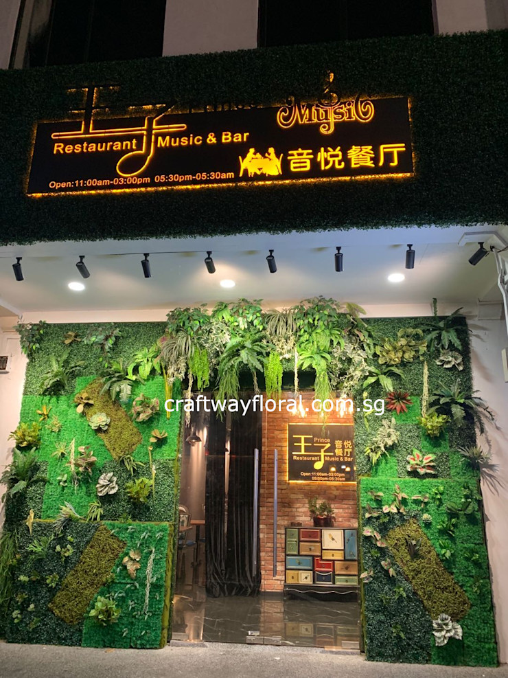 Artificial flowers and plants supplier Craftway Floral & Gifts Tropical style office buildings Plastic Green