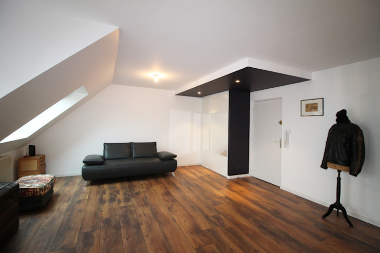APPARTEMENT A SOUFFELWEYERSHEIM Agence ADI-HOME Salon moderne Bois Blanc