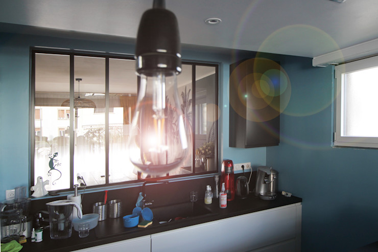 MAISON A SCHILTIGHEIM Agence ADI-HOME Cuisine intégrée Briques Bleu