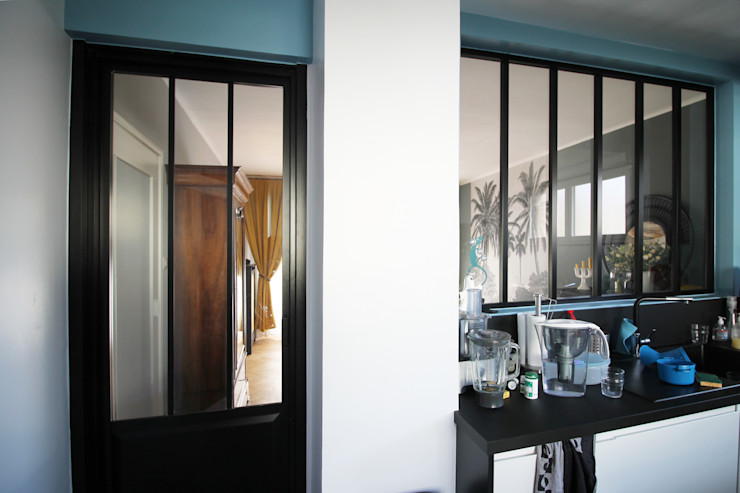 MAISON A SCHILTIGHEIM Agence ADI-HOME Cuisine intégrée Briques Blanc