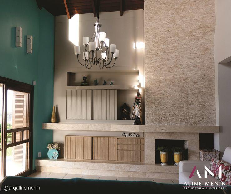 Estar Praiano Aline Menin Arquitetura Salas de estar modernas