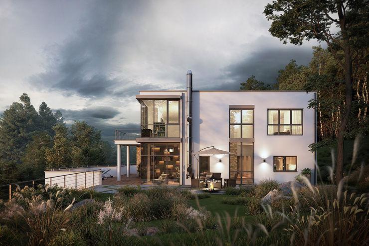 Moderne Architektur PerspektiveEins Bungalow