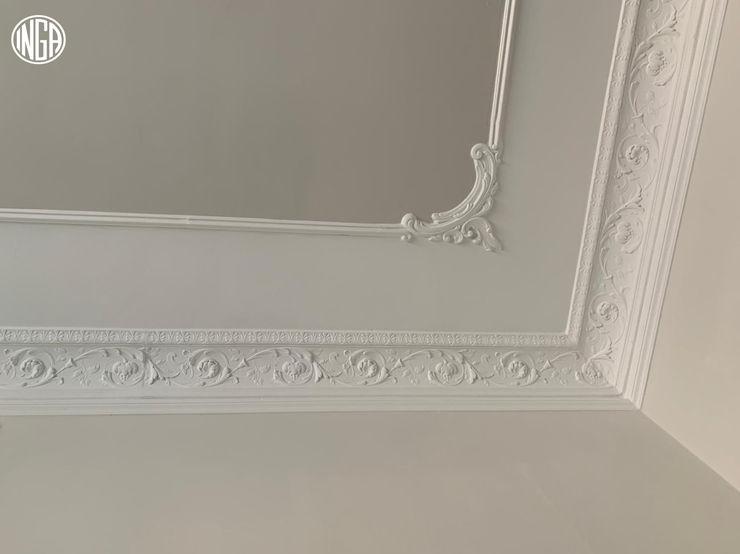 PARTICOLARE ANGOLO SOFFITTO. INGA Camera da letto in stile classico Bianco