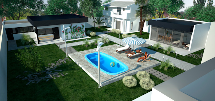 D4-Arquitectos منزل عائلي كبير الحديد / الصلب White