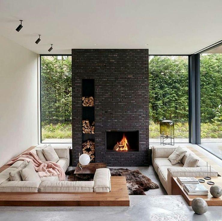 Casa in legno passiva Green Living Ltd Soggiorno moderno