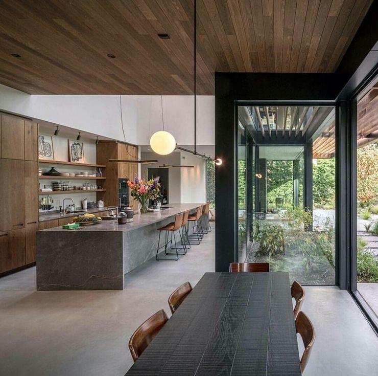 Casa in legno passiva Green Living Ltd Cucina moderna