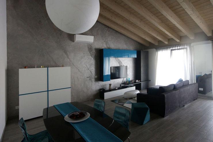 zona giorno Marcello Cesini Architetto Soggiorno minimalista