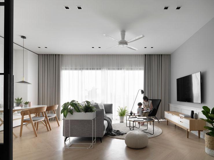 pins studio Living room White