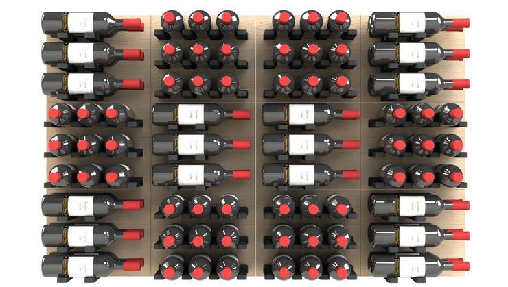 Garrafeiros - Adegas para Vinho Modern wine cellar Wood-Plastic Composite Multicolored