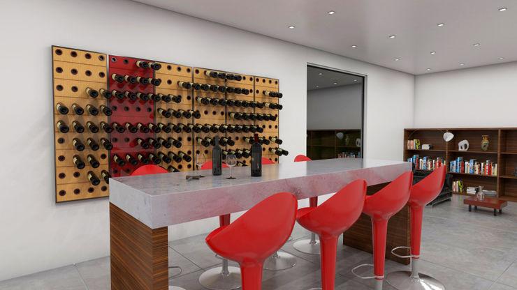 Garrafeiros - Adegas para Vinho Bodegas de estilo moderno Plástico Negro