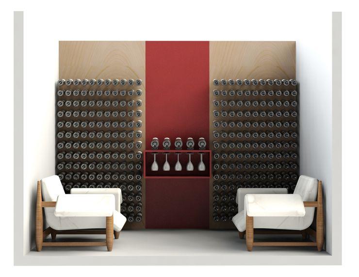 Garrafeiros - Adegas para Vinho Bodegas de estilo minimalista Plástico Negro
