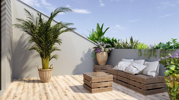 Balkon mit einfachen Elementen bestückt CrazyChair Hängematten Balkon