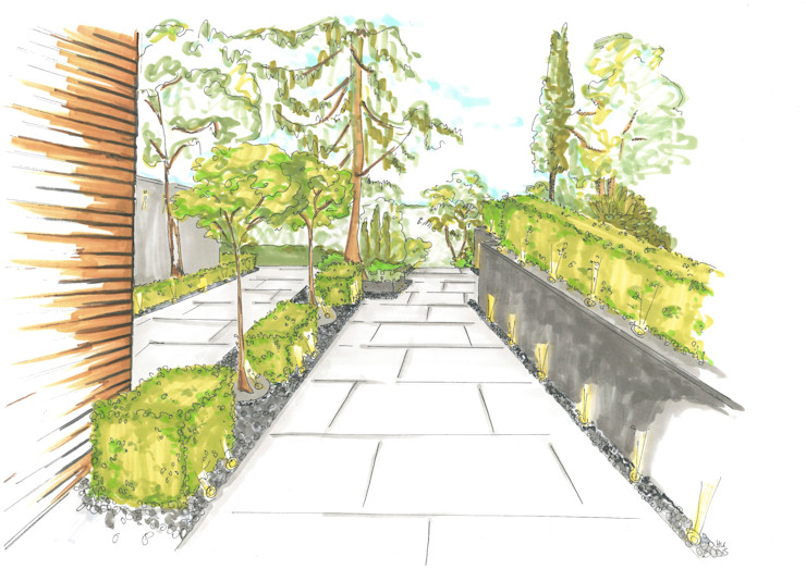 Eingangsbereich - Vorgarten Heike Schauz - Farbe & Feng Shui Vorgarten