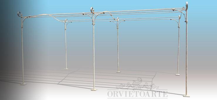 Orvieto Arte Industrial style garden Iron/Steel White