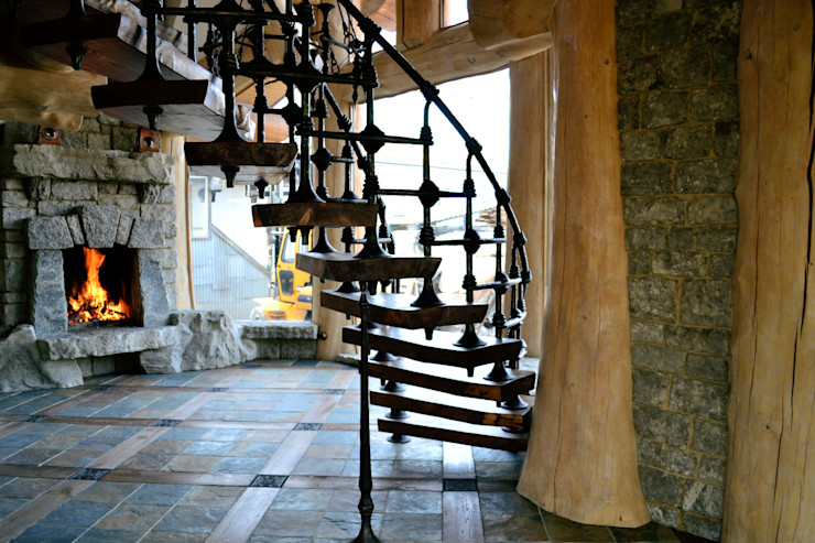 Кованая лестница Big House Лестницы Железо / Сталь