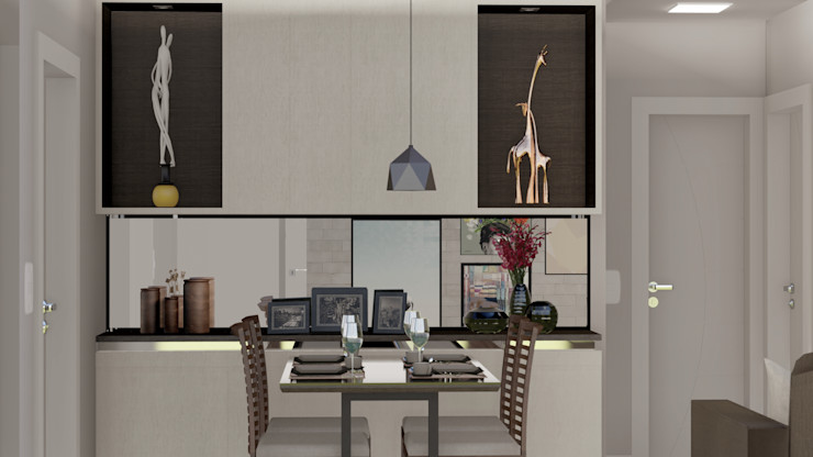 RESIDÊNCIA RSS – Sala de Estar/Jantar MILWARD ARQUITETURA Salas de jantar modernas