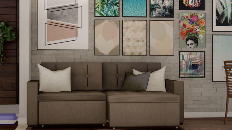 RESIDÊNCIA RSS – Sala de Estar/Jantar MILWARD ARQUITETURA Salas de estar modernas