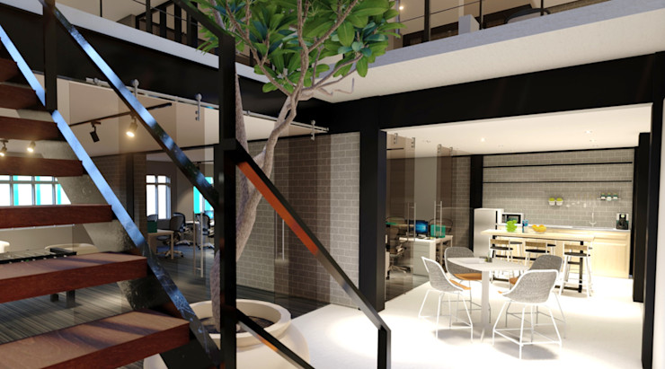 Office Interior Design LI A'ALAF ARCHITECT Minimalst style study/office