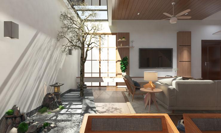 Zen Serenity W33 Design Studio Living room Wood effect