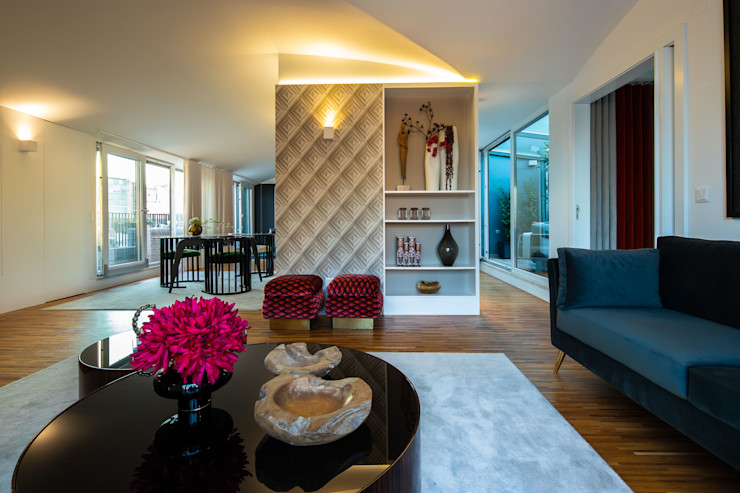 Projecto de Interiores   Tomás Ribeiro   Lisboa Victor Guerra.Design Salas de estar ecléticas