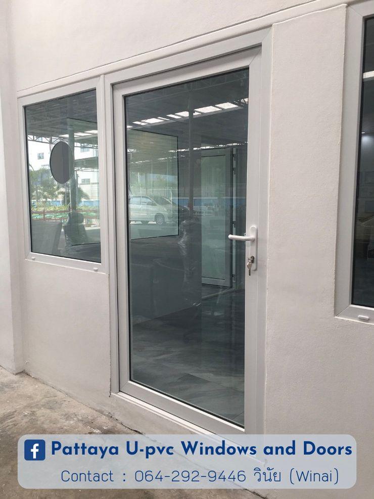 โรงงาน พัทยา กระจก ยูพีวีซี Pattaya UPVC Windows & Doors Portas de vidro Vidro Branco