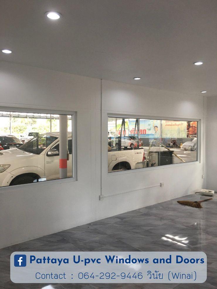 โรงงาน พัทยา กระจก ยูพีวีซี Pattaya UPVC Windows & Doors Janelas de PVC Vidro Branco