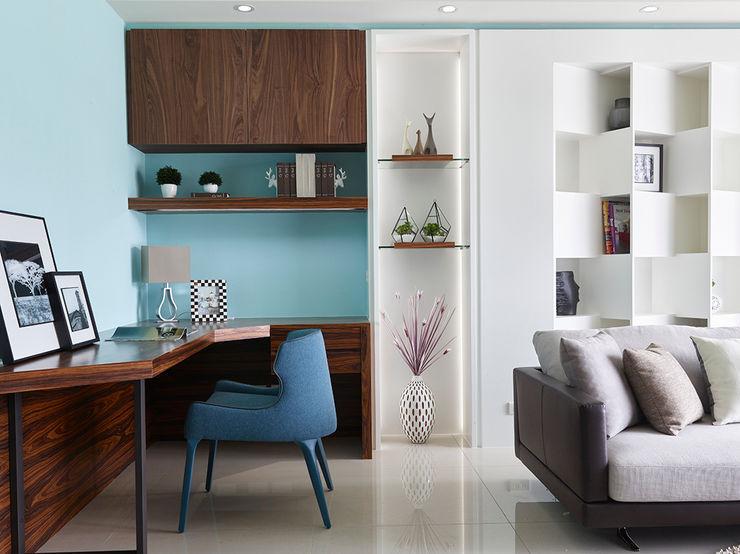 客廳 法柏室內裝修設計 客廳 Blue