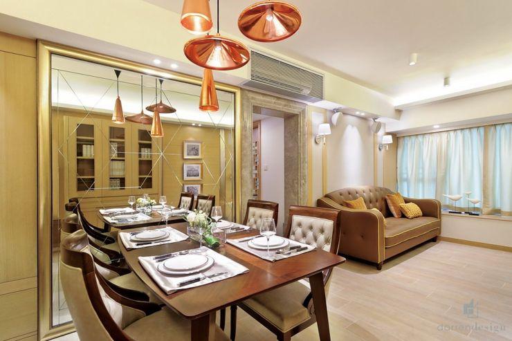 Living and Dining Room Darren Design & Associates 戴倫設計 Modern living room Wood Wood effect